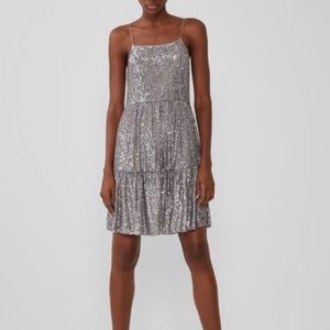 NWT-Sequined Silver Dress
